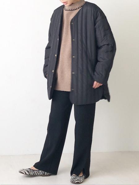 Bou Jeloudの【WEB限定】ストライプキルティングミドルジャケットを使ったコーディネートを紹介します。|Rakuten Fashion(楽天ファッション/旧楽天ブランドアベニュー)1061940