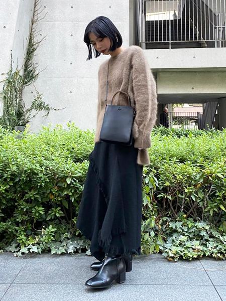 FROM FIRST MUSEEのアシメ切替ウールスカートを使ったコーディネートを紹介します。|Rakuten Fashion(楽天ファッション/旧楽天ブランドアベニュー)1062282