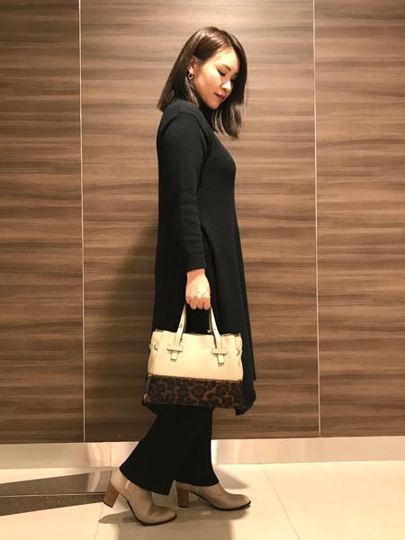 interstapleのJewel/切替3層トートを使ったコーディネートを紹介します。|Rakuten Fashion(楽天ファッション/旧楽天ブランドアベニュー)1062593