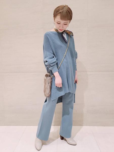 Piche Abahouseの【スノーソール】7cmチャンキーヒールショートブーツを使ったコーディネートを紹介します。|Rakuten Fashion(楽天ファッション/旧楽天ブランドアベニュー)1062596