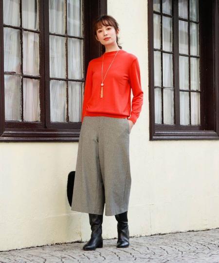 AMACAのファインウールボトルネックプルオーバーニットを使ったコーディネートを紹介します。|Rakuten Fashion(楽天ファッション/旧楽天ブランドアベニュー)1062765
