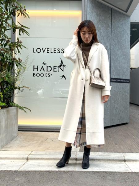 LOVELESSのバックプリーツ オーバー コートを使ったコーディネートを紹介します。|Rakuten Fashion(楽天ファッション/旧楽天ブランドアベニュー)1062826