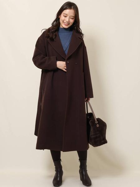 MK MICHEL KLEINのオーバーサイズシルエット ウールコートを使ったコーディネートを紹介します。|Rakuten Fashion(楽天ファッション/旧楽天ブランドアベニュー)1063124