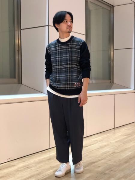 417 EDIFICEの【GIM / ジム】ブリティッシュウールチェッククルーを使ったコーディネートを紹介します。 Rakuten Fashion(楽天ファッション/旧楽天ブランドアベニュー)1063232