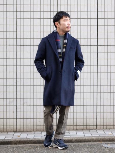 417 EDIFICEのダブルフェイスカシミヤブレンド メルトンチェスターコートを使ったコーディネートを紹介します。|Rakuten Fashion(楽天ファッション/旧楽天ブランドアベニュー)1063281