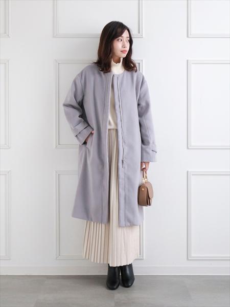 clearのベロアプリーツスカートを使ったコーディネートを紹介します。|Rakuten Fashion(楽天ファッション/旧楽天ブランドアベニュー)1063335