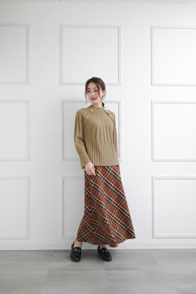 clearのマリンボタンニットプルオーバーを使ったコーディネートを紹介します。|Rakuten Fashion(楽天ファッション/旧楽天ブランドアベニュー)1063383