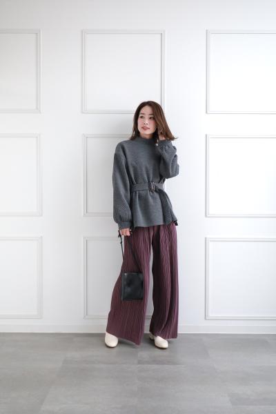 clearのバックルベルトチュニックトップスを使ったコーディネートを紹介します。|Rakuten Fashion(楽天ファッション/旧楽天ブランドアベニュー)1063401