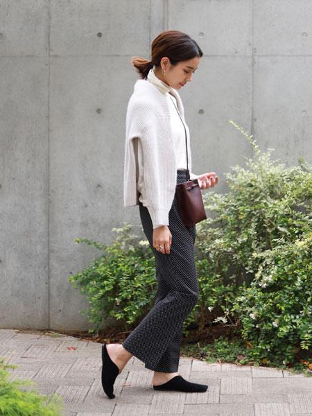 SLOBE IENAのドットJQD ストレートPtを使ったコーディネートを紹介します。|Rakuten Fashion(楽天ファッション/旧楽天ブランドアベニュー)1063513