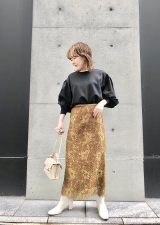 ROPE'のストレッチフィットソフトレザーブーツを使ったコーディネートを紹介します。|Rakuten Fashion(楽天ファッション/旧楽天ブランドアベニュー)1063871