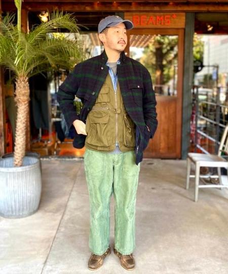 BEAMS MENのBEAMS PLUS / ミリタリー ユーティリティーパンツを使ったコーディネートを紹介します。|Rakuten Fashion(楽天ファッション/旧楽天ブランドアベニュー)1064141