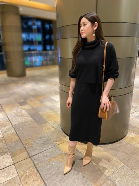 PINKY&DIANNEのショートトップスレイヤードツインワンピースを使ったコーディネートを紹介します。|Rakuten Fashion(楽天ファッション/旧楽天ブランドアベニュー)1064644