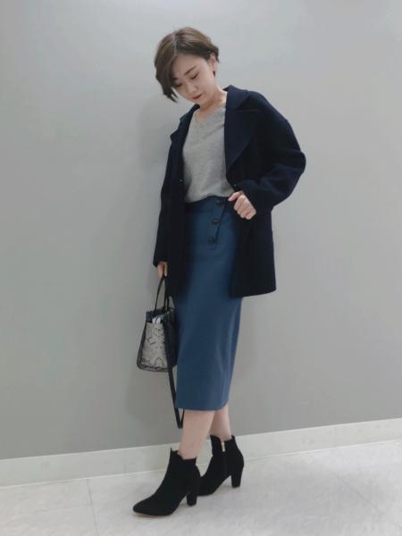 PINKY&DIANNEのストレッチツイルダブルボタンスカートを使ったコーディネートを紹介します。 Rakuten Fashion(楽天ファッション/旧楽天ブランドアベニュー)1064586