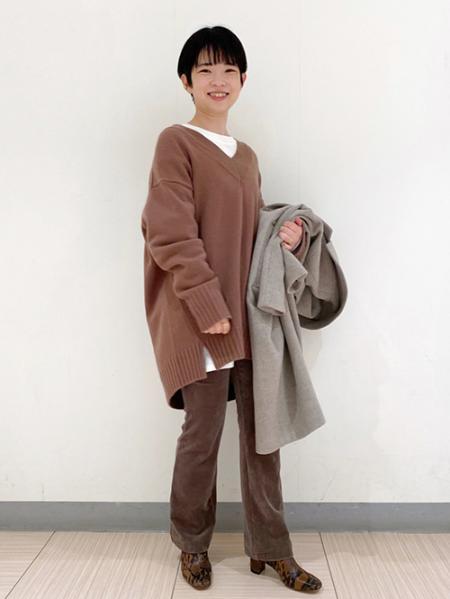 JOURNAL STANDARDのニットコールパンツを使ったコーディネートを紹介します。 Rakuten Fashion(楽天ファッション/旧楽天ブランドアベニュー)1065467
