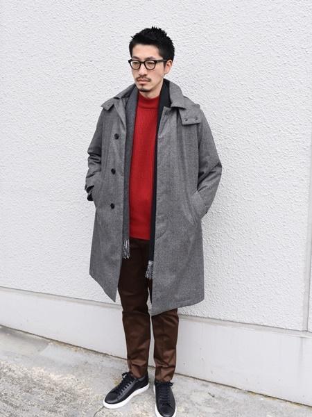 SHIPSのSHIPS: カシミヤ ダブルフェイス パネル マフラーを使ったコーディネートを紹介します。|Rakuten Fashion(楽天ファッション/旧楽天ブランドアベニュー)1065932