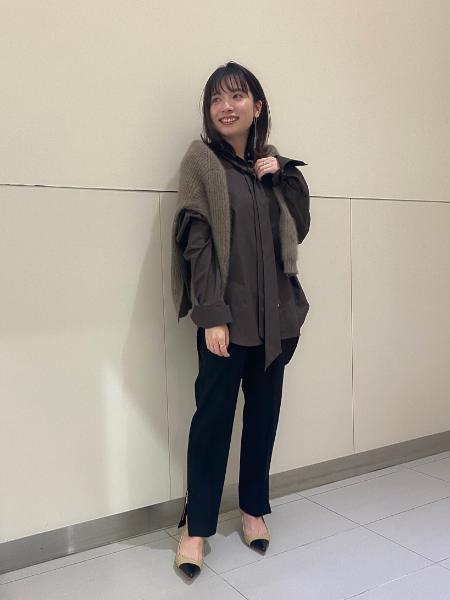 NOBLEのヤクラクーン カシミヤアゼアミニットを使ったコーディネートを紹介します。|Rakuten Fashion(楽天ファッション/旧楽天ブランドアベニュー)1065968