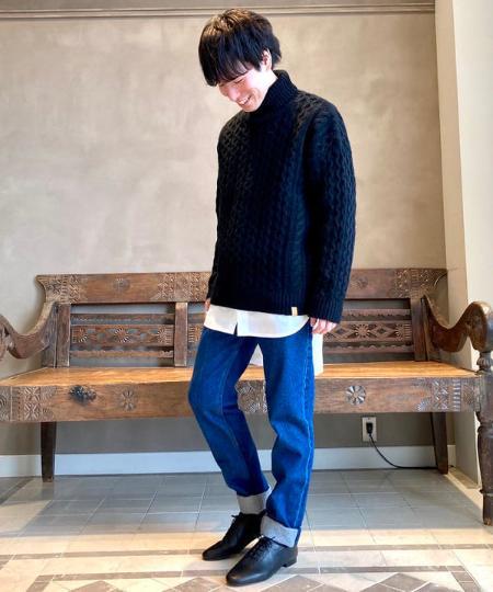 BEAMS LIGHTSのBEAMS LIGHTS / モンゴルウール タートルネック アランセーターを使ったコーディネートを紹介します。 Rakuten Fashion(楽天ファッション/旧楽天ブランドアベニュー)1066644