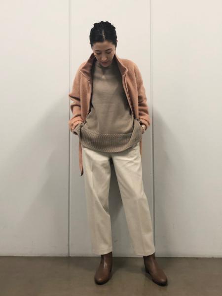HUMAN WOMANの◆ウールカシミヤクループルオーバーニットを使ったコーディネートを紹介します。|Rakuten Fashion(楽天ファッション/旧楽天ブランドアベニュー)1066852
