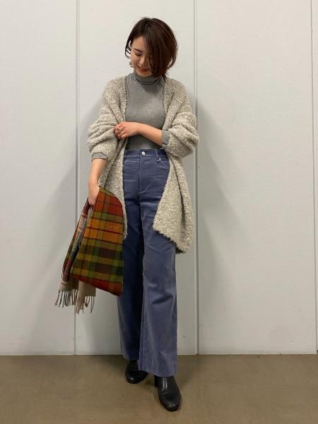 HUMAN WOMANの◆Glen Princeパッチワークストールを使ったコーディネートを紹介します。|Rakuten Fashion(楽天ファッション/旧楽天ブランドアベニュー)1066904