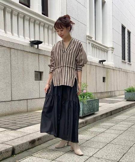Demi-Luxe BEAMSのRito / 2WAY ストライプ ブラウスを使ったコーディネートを紹介します。|Rakuten Fashion(楽天ファッション/旧楽天ブランドアベニュー)1066936