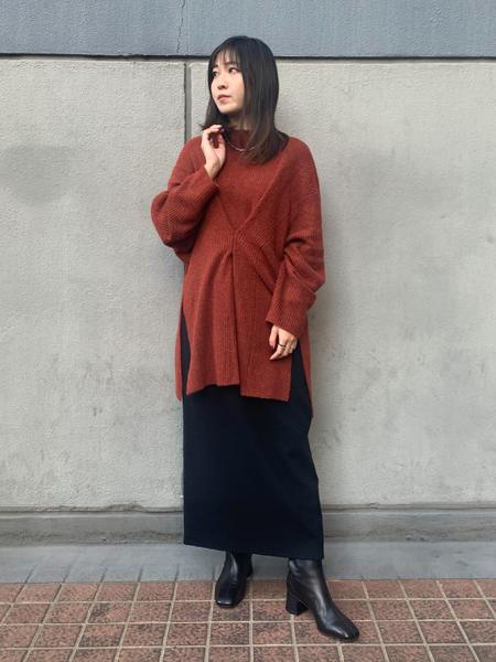 FROM FIRST MUSEEのフロントタックニットを使ったコーディネートを紹介します。|Rakuten Fashion(楽天ファッション/旧楽天ブランドアベニュー)1067920