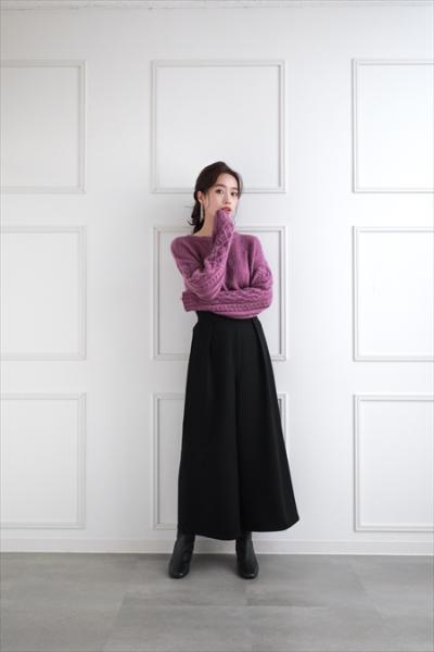 clearのスカラップボタンワイドパンツを使ったコーディネートを紹介します。|Rakuten Fashion(楽天ファッション/旧楽天ブランドアベニュー)1068061
