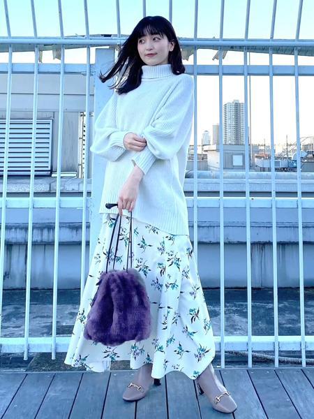 Piche Abahouseの【スノーソール】ビットスクエアトゥブーツを使ったコーディネートを紹介します。|Rakuten Fashion(楽天ファッション/旧楽天ブランドアベニュー)1068594