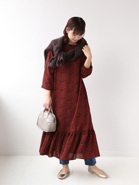 JOURNAL STANDARD relumeの<<追加>>ガラギャザーキリカエワンピース◆を使ったコーディネートを紹介します。|Rakuten Fashion(楽天ファッション/旧楽天ブランドアベニュー)1069147