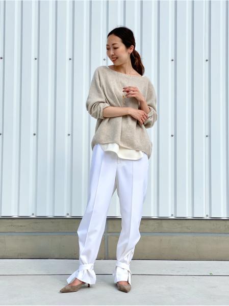 NOBLEの<<追加>>ファインウール エフォートレスニット◆を使ったコーディネートを紹介します。 Rakuten Fashion(楽天ファッション/旧楽天ブランドアベニュー)1070153