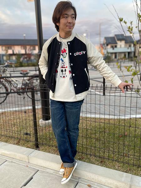 Levi'sのDISNEY S/S Tシャツ DISNEY MARSHMALLOW W/ RIB TRIMを使ったコーディネートを紹介します。|Rakuten Fashion(楽天ファッション/旧楽天ブランドアベニュー)1071489