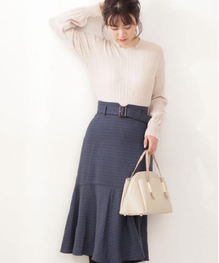 PROPORTION BODY DRESSINGの千鳥ジャガードタイトスカートを使ったコーディネートを紹介します。|Rakuten Fashion(楽天ファッション/旧楽天ブランドアベニュー)1071593