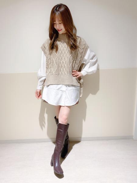 INGNIの3GケーブルモックNベストSETを使ったコーディネートを紹介します。 Rakuten Fashion(楽天ファッション/旧楽天ブランドアベニュー)1072435