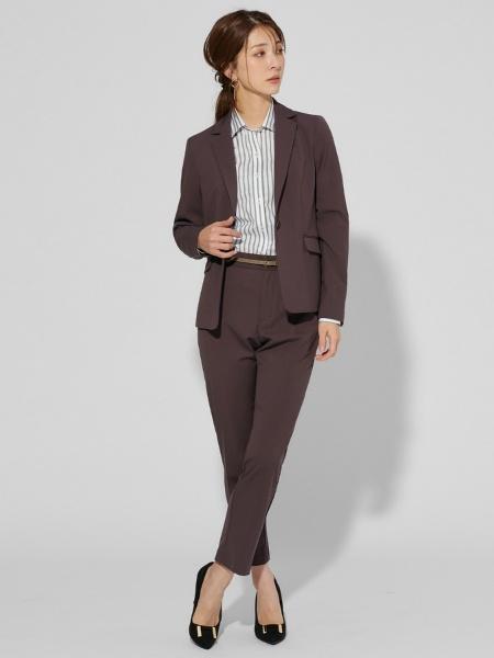 BRICK HOUSE by Tokyo Shirtsの(W)[plantica]レディース ウィメンズシャツ 長袖 形態安定 ワイド衿 白×グリーンストライプを使ったコーディネートを紹介します。|Rakuten Fashion(楽天ファッション/旧楽天ブランドアベニュー)1072624
