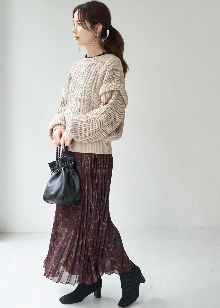 ROPE' PICNICのリブニットストレートヒールソフトブーツを使ったコーディネートを紹介します。 Rakuten Fashion(楽天ファッション/旧楽天ブランドアベニュー)1077488