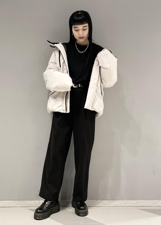 JUNRedのエアリーストレッチフラノワイドパンツ【Set Up可能】を使ったコーディネートを紹介します。|Rakuten Fashion(楽天ファッション/旧楽天ブランドアベニュー)1078065