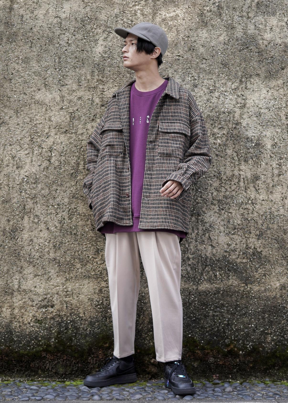 JUNRedのルーズシルエットCPOシャツを使ったコーディネートを紹介します。|Rakuten Fashion(楽天ファッション/旧楽天ブランドアベニュー)1078080