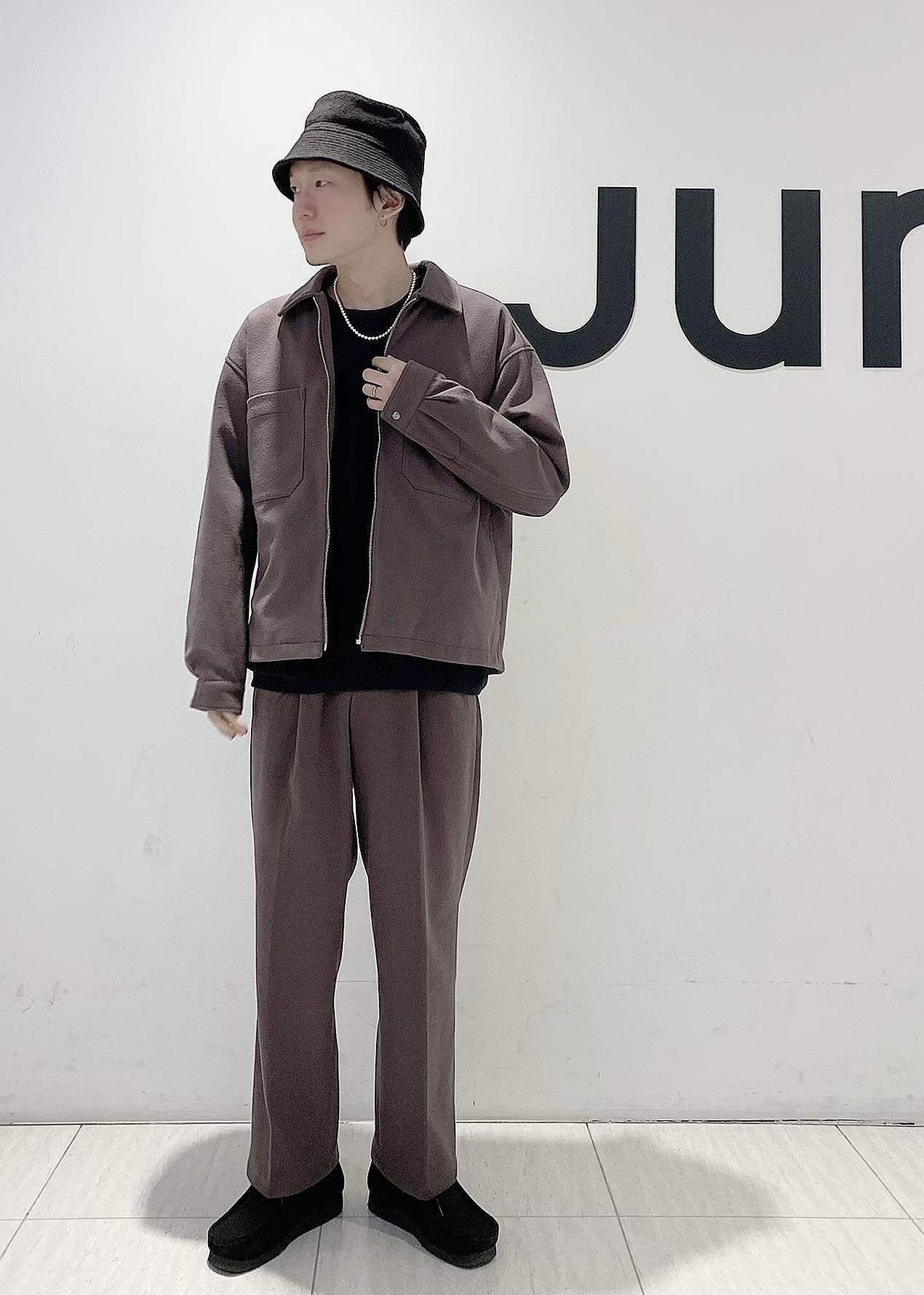 JUNRedのエアリーストレッチフラノワイドパンツ【Set Up可能】を使ったコーディネートを紹介します。|Rakuten Fashion(楽天ファッション/旧楽天ブランドアベニュー)1078113