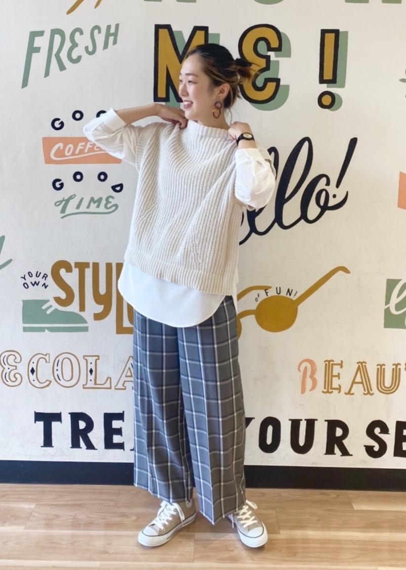 ViSの【HOT BEAUTY STRETCH】裏起毛あったかハイウエストワイドパンツを使ったコーディネートを紹介します。 Rakuten Fashion(楽天ファッション/旧楽天ブランドアベニュー)1078320