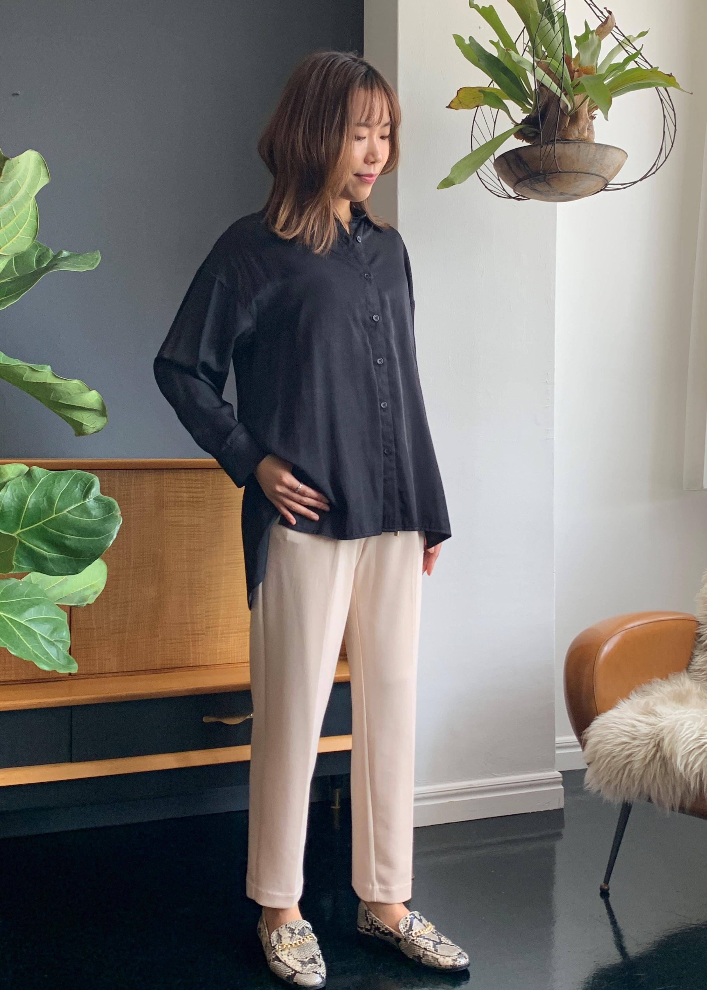 ViSの【スフレタッチ】リラックステーパードパンツを使ったコーディネートを紹介します。|Rakuten Fashion(楽天ファッション/旧楽天ブランドアベニュー)1078331