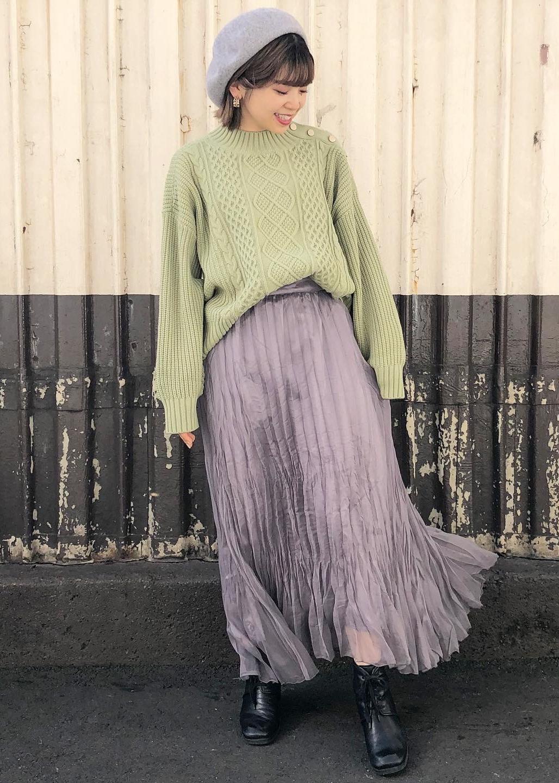 ViSのオーガンジーワッシャースカートを使ったコーディネートを紹介します。 Rakuten Fashion(楽天ファッション/旧楽天ブランドアベニュー)1078347