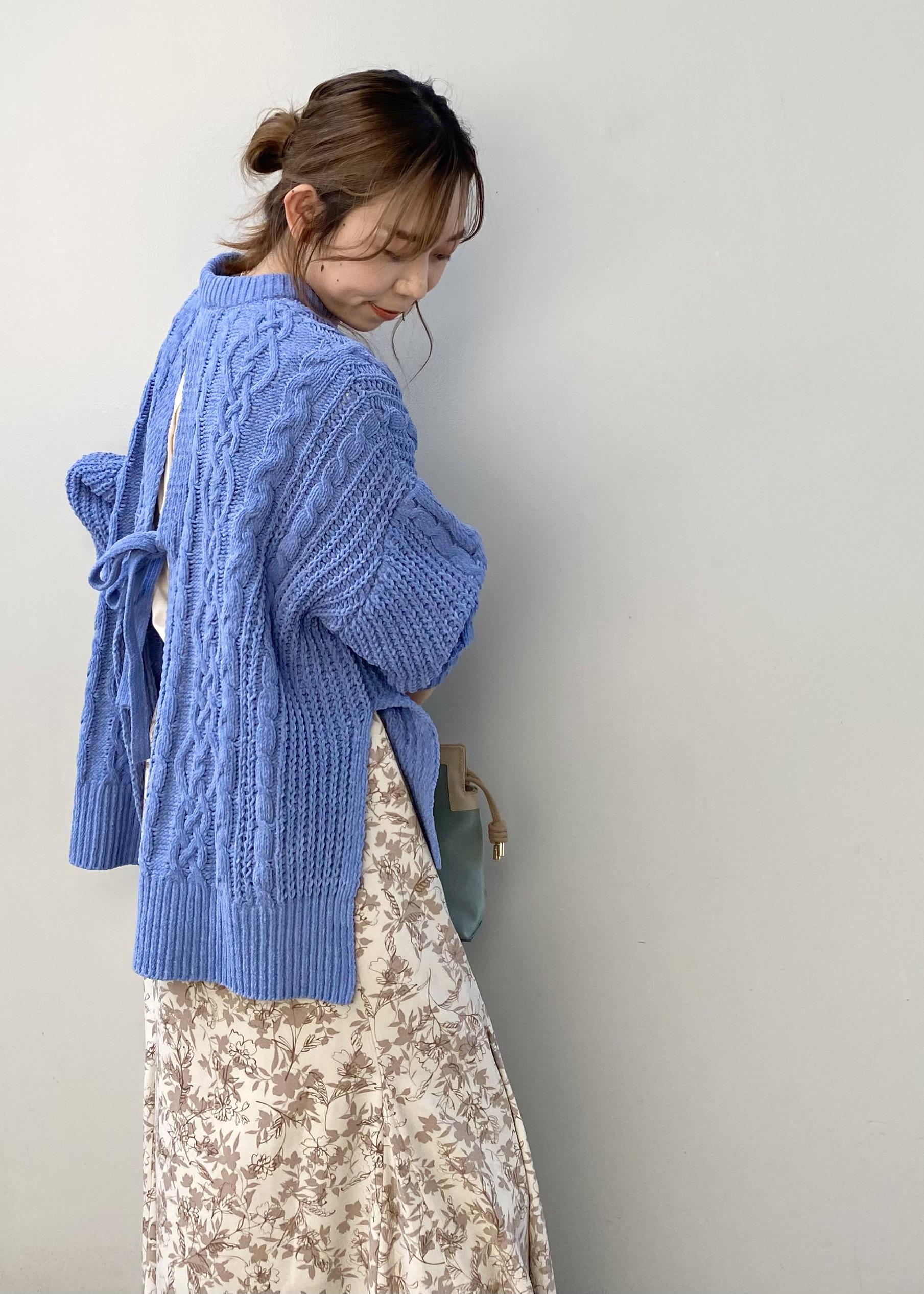 ViSの【ベロアタッチ】バックリボンモールケーブルプルオーバーを使ったコーディネートを紹介します。|Rakuten Fashion(楽天ファッション/旧楽天ブランドアベニュー)1078439