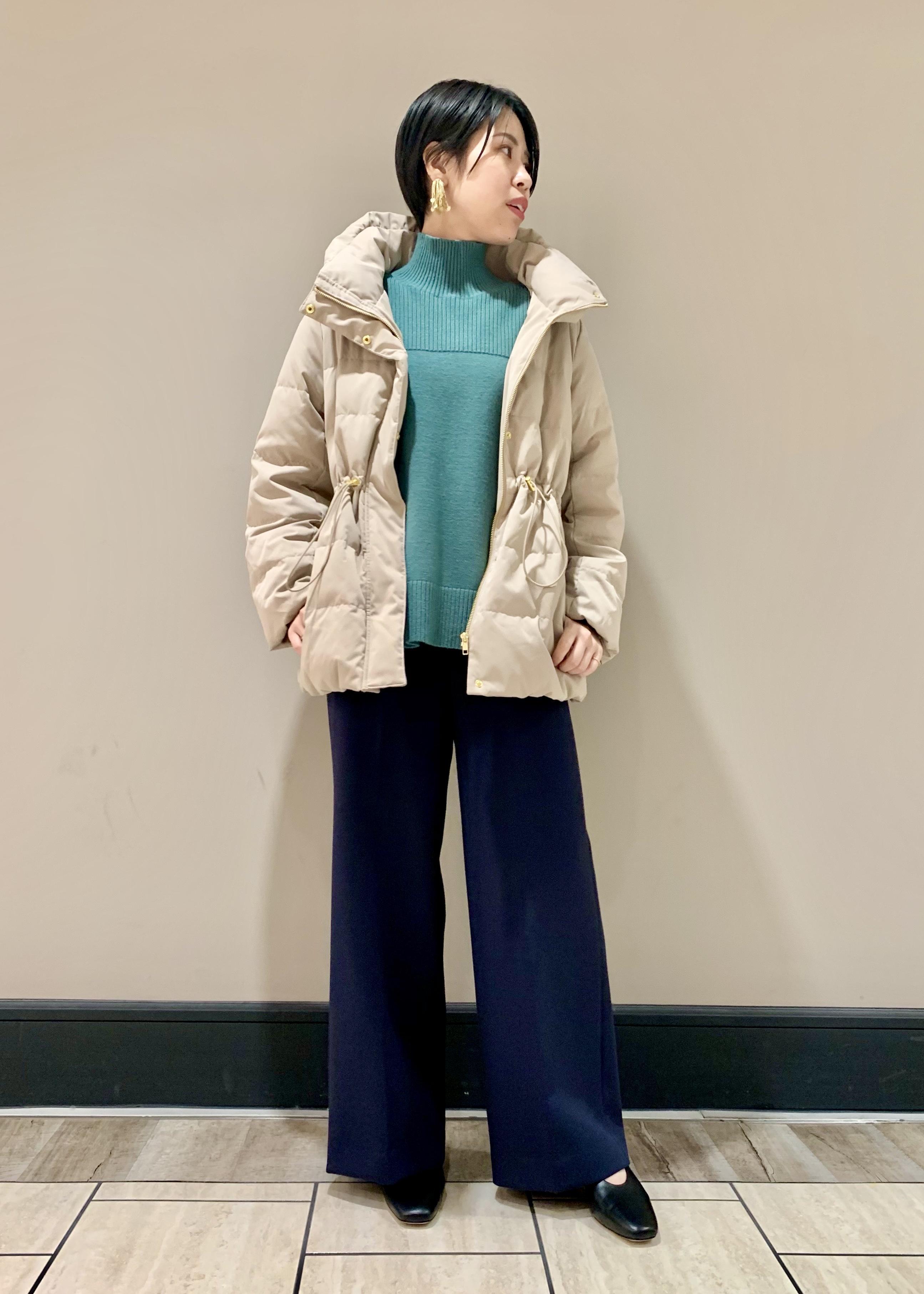 SALON adam et rope'のリブハイネックプルオーバーを使ったコーディネートを紹介します。|Rakuten Fashion(楽天ファッション/旧楽天ブランドアベニュー)1077932