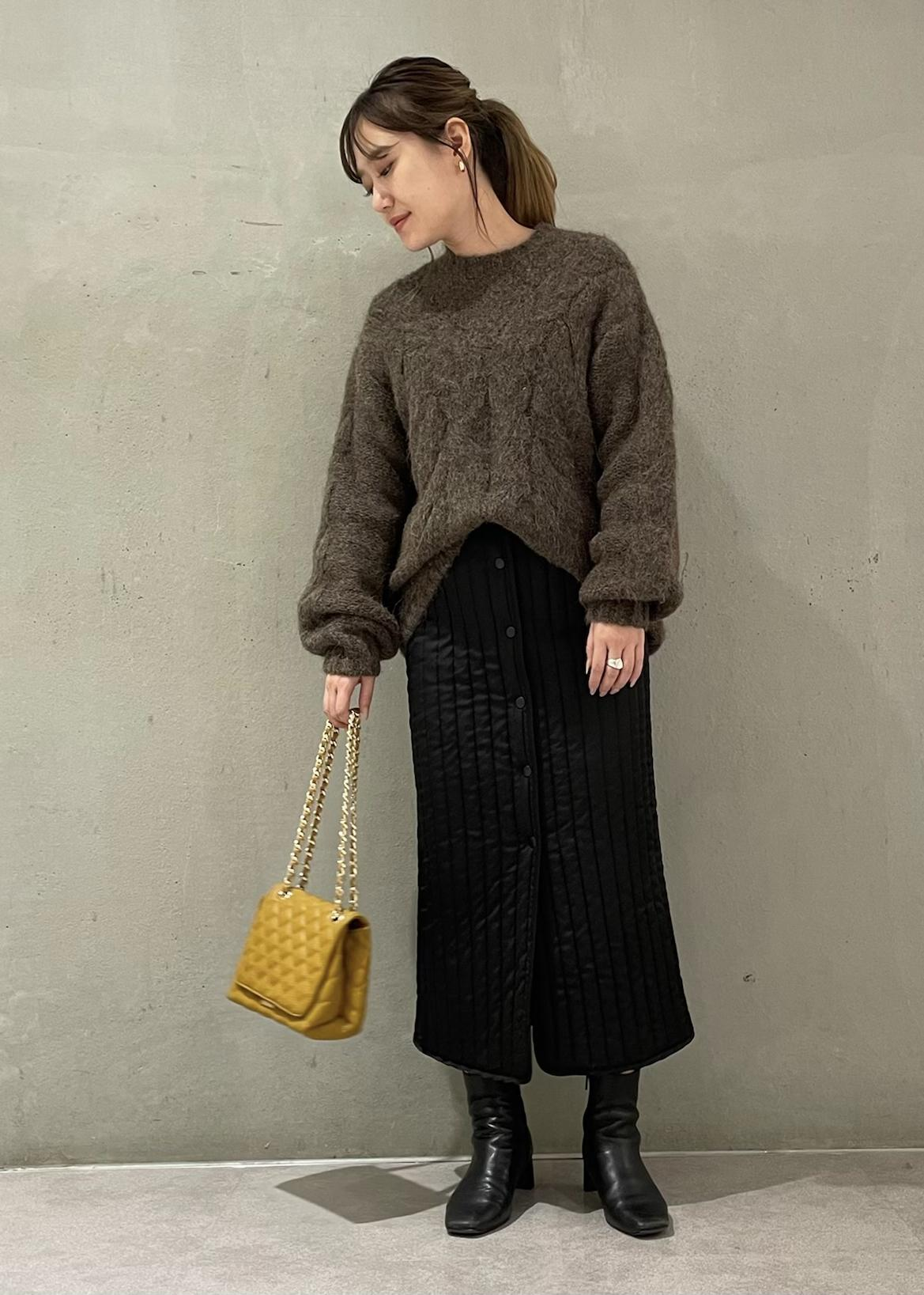 ROPE'のアルパカケーブル編みミドル丈ニットを使ったコーディネートを紹介します。 Rakuten Fashion(楽天ファッション/旧楽天ブランドアベニュー)1078776