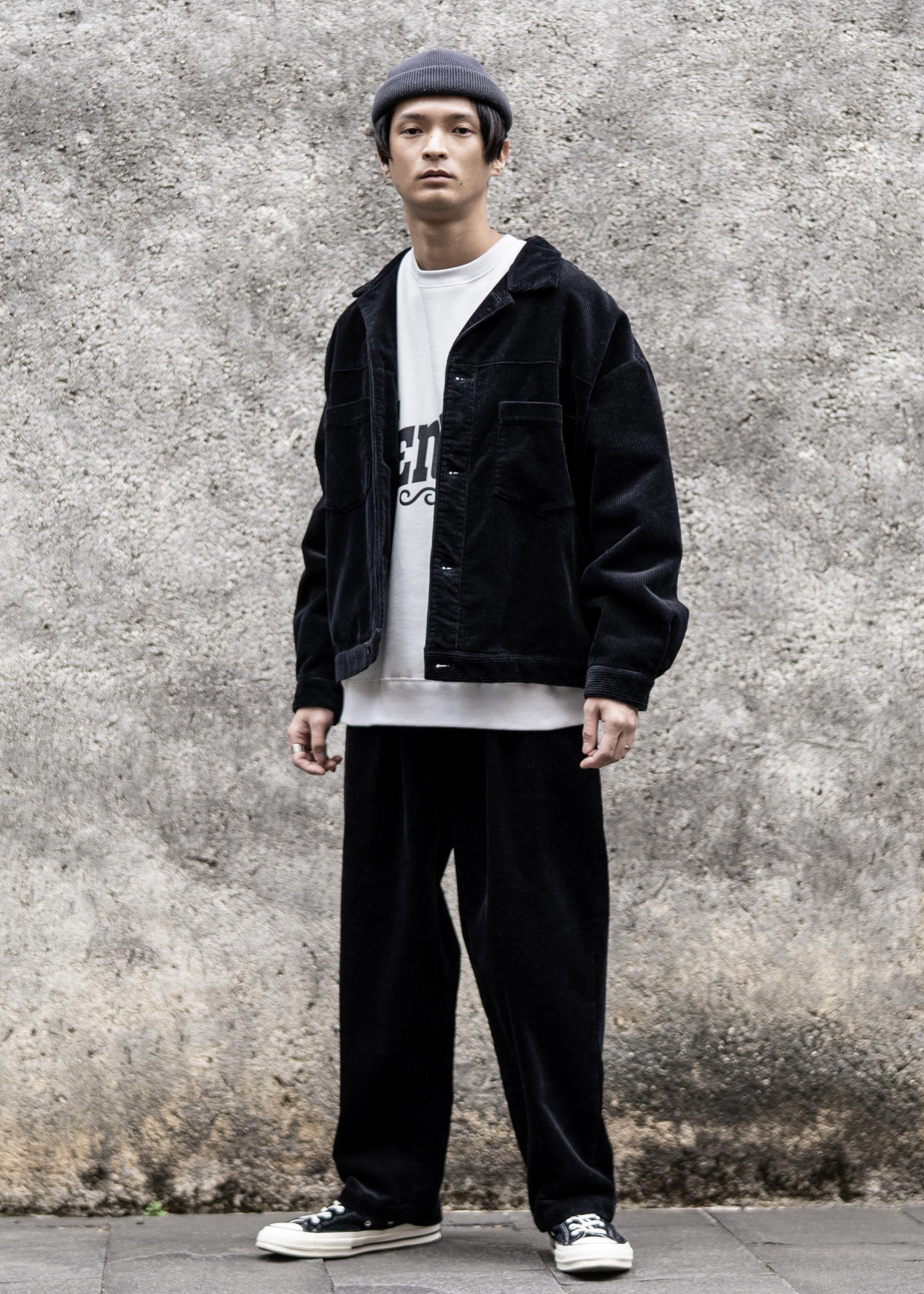 JUNRedの【セットアップ可能】コーデュロイセミテーパードパンツを使ったコーディネートを紹介します。|Rakuten Fashion(楽天ファッション/旧楽天ブランドアベニュー)1080638