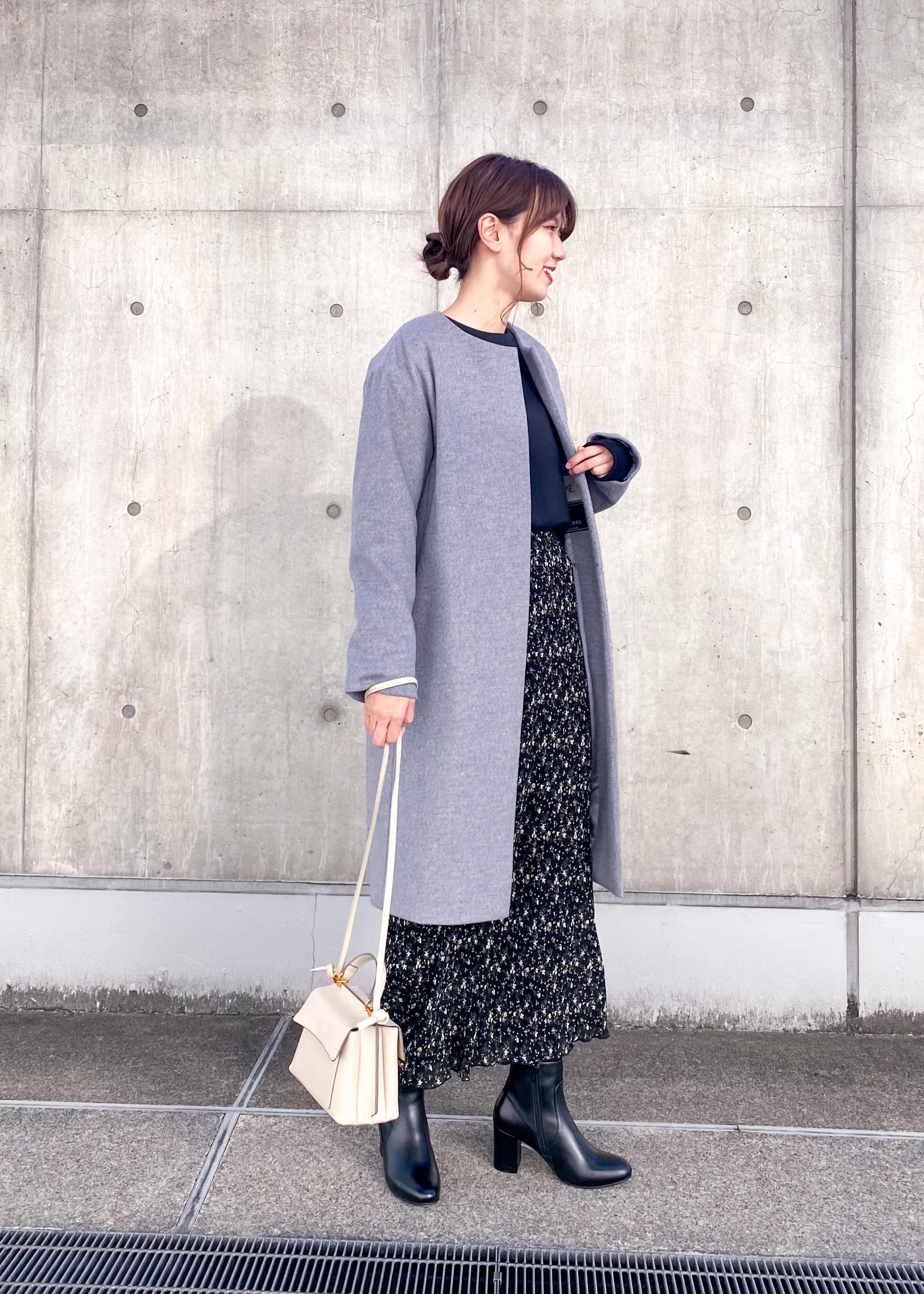 ROPE'のフラワープリントワッシャープリーツストレートスカートを使ったコーディネートを紹介します。|Rakuten Fashion(楽天ファッション/旧楽天ブランドアベニュー)1080752
