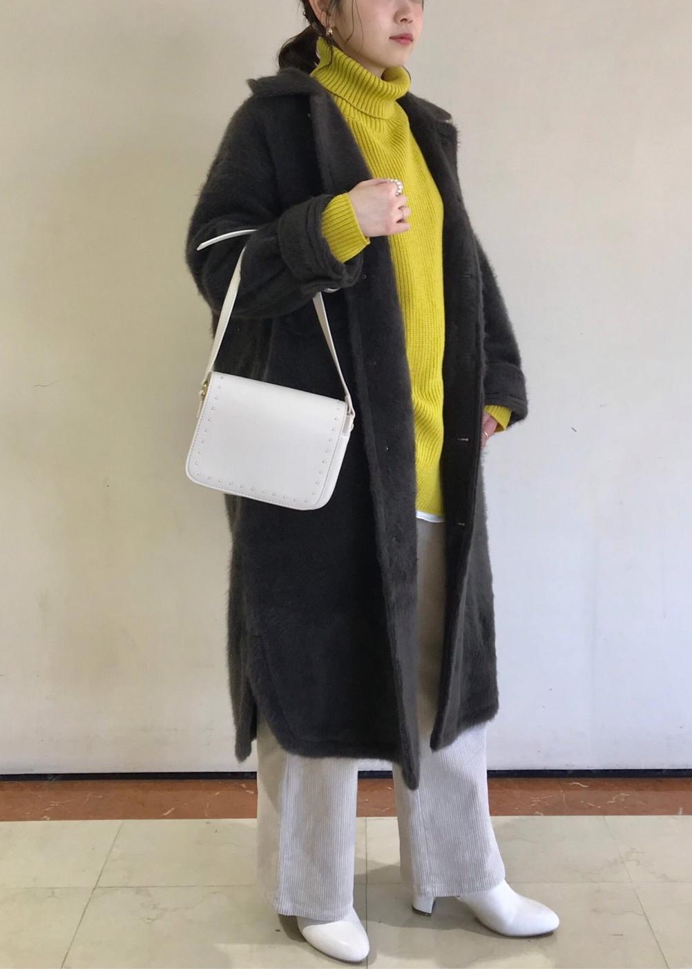 ROPE' PICNICの【マシンウォッシャブル】フロントシャーリングニットプルオーバーを使ったコーディネートを紹介します。|Rakuten Fashion(楽天ファッション/旧楽天ブランドアベニュー)1080162