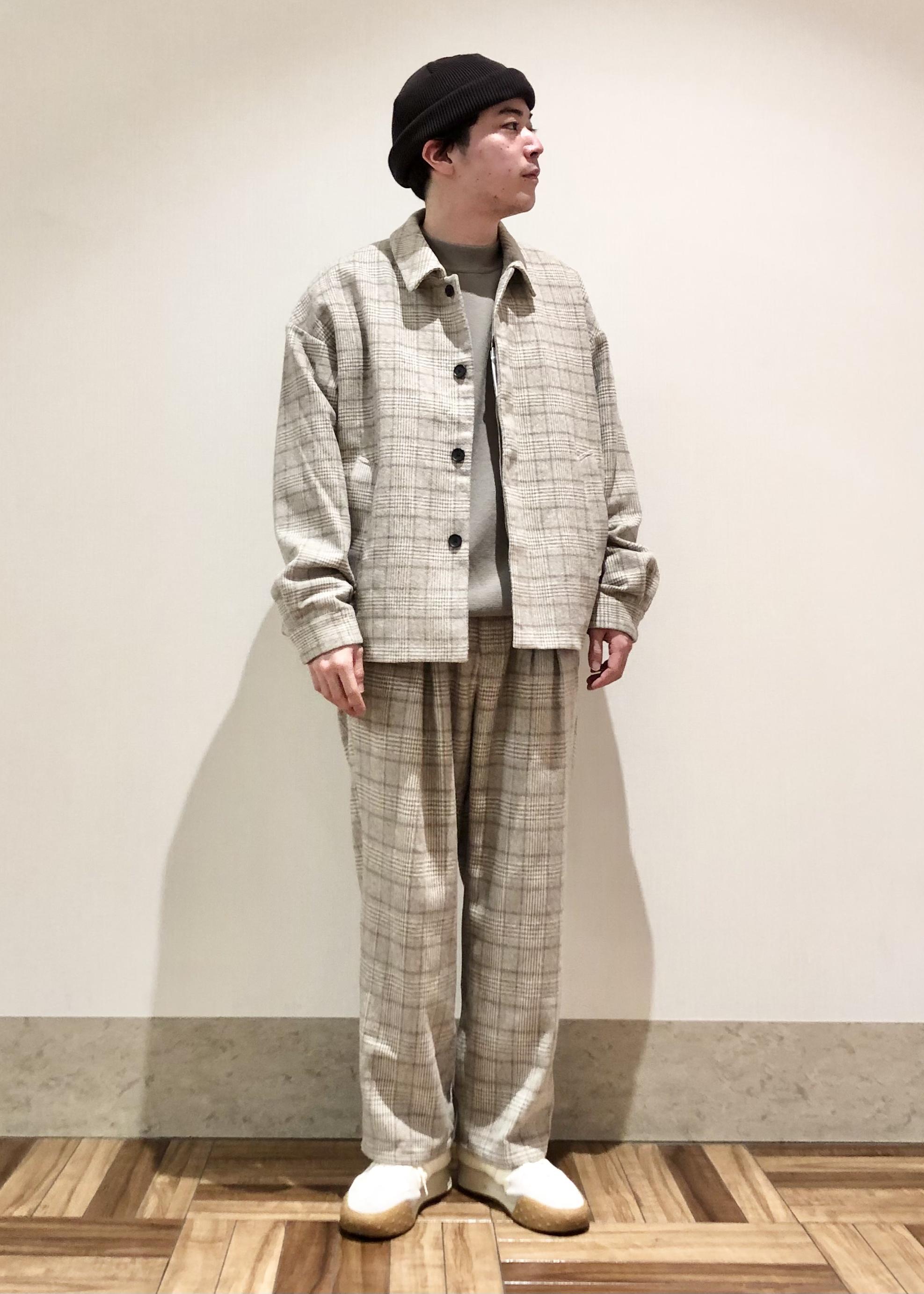 JUNRedの【セットアップ対応】ツイーディーチェックボックスタックワイドパンツを使ったコーディネートを紹介します。 Rakuten Fashion(楽天ファッション/旧楽天ブランドアベニュー)1080231