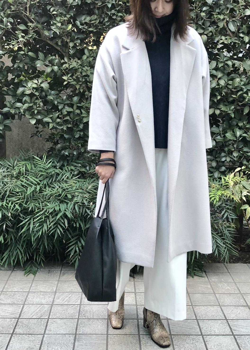 ViSの【HOT BEAUTY STRETCH】裏起毛あったかハイウエストワイドパンツを使ったコーディネートを紹介します。|Rakuten Fashion(楽天ファッション/旧楽天ブランドアベニュー)1080289