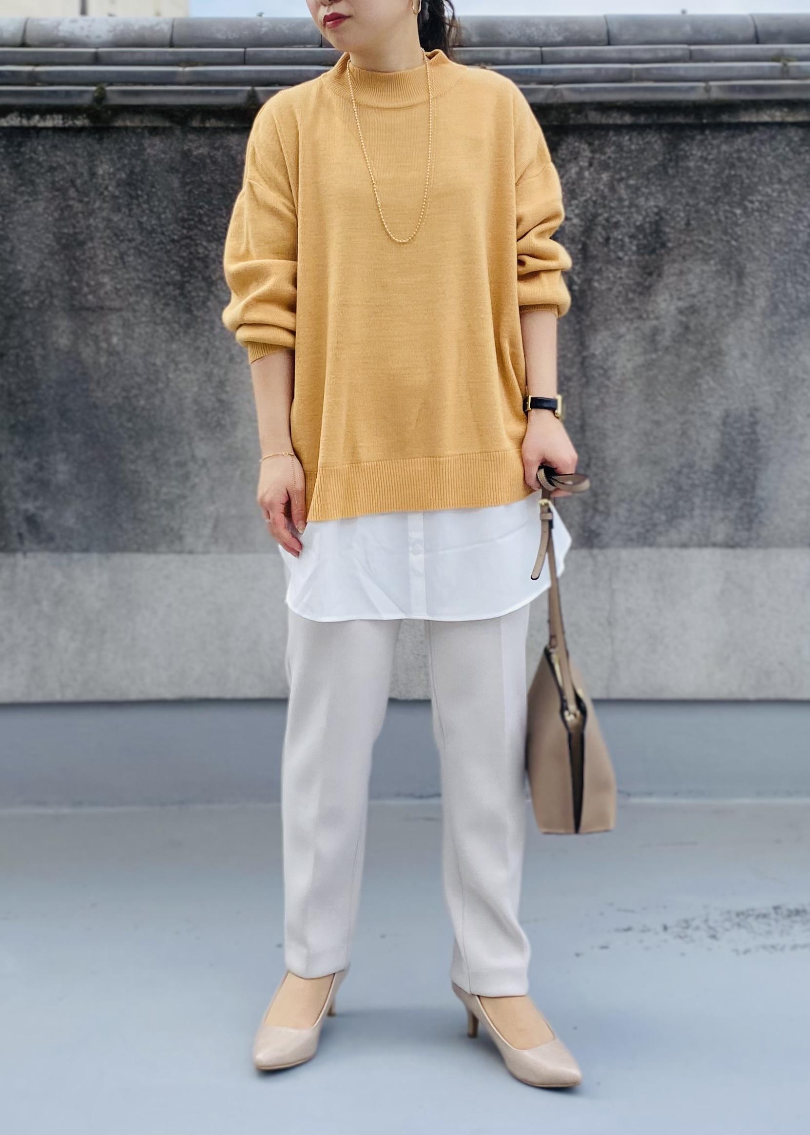 ViSのバックリボンレイヤードニットチュニックを使ったコーディネートを紹介します。|Rakuten Fashion(楽天ファッション/旧楽天ブランドアベニュー)1080919