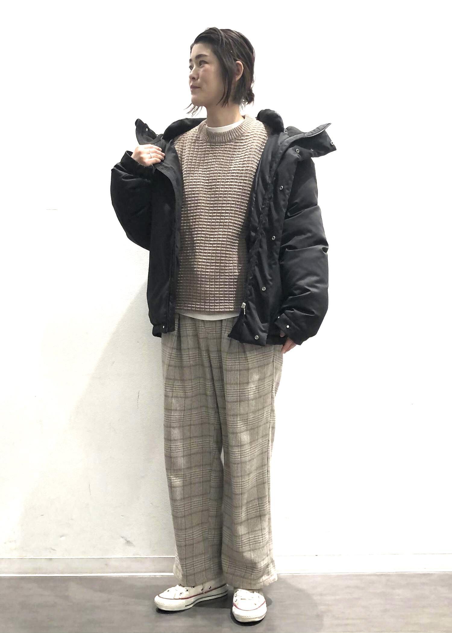 JUNRedの【セットアップ対応】ツイーディーチェックボックスタックワイドパンツを使ったコーディネートを紹介します。|Rakuten Fashion(楽天ファッション/旧楽天ブランドアベニュー)1082701